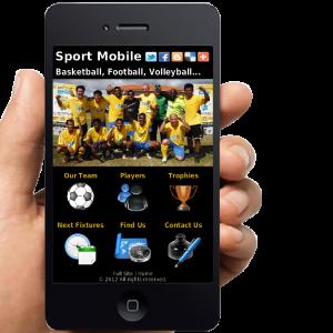Sport Mobile Website