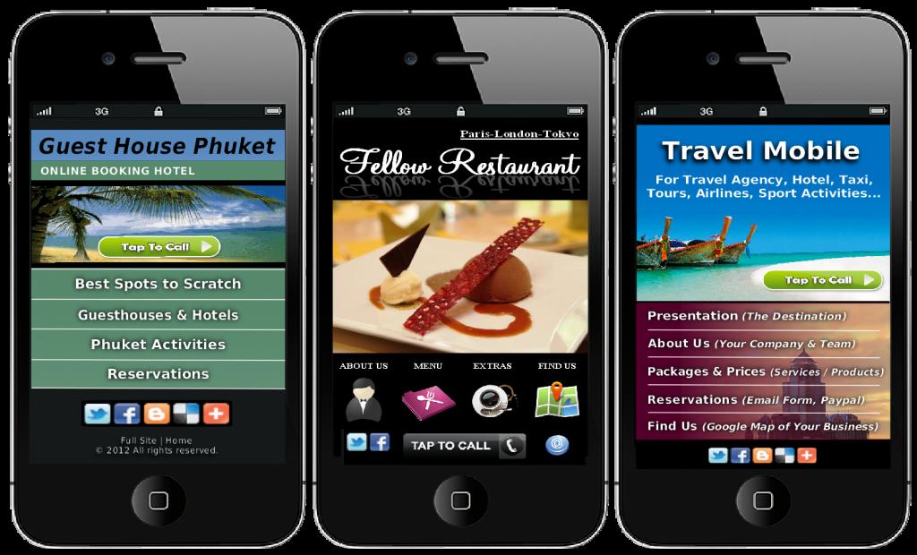 Travel Mobile Websites
